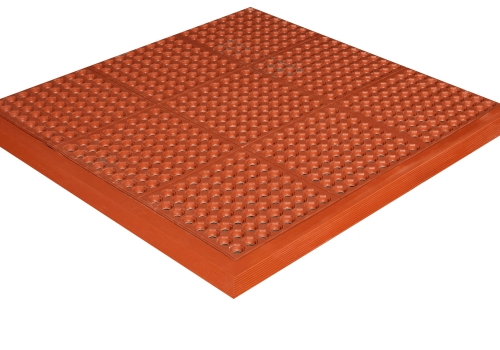 FLOOR MAT SAFETY STEP PERF BLK (PRICE PER FOOT)